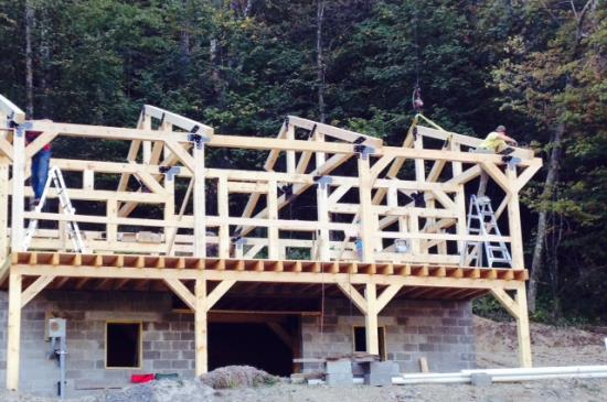 Timber Frame Cabins Mooretown Sawmill