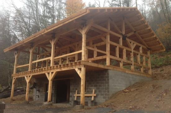 Timber Frame Cabins - Mooretown Sawmill